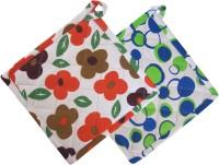 Smart Home Orange, Green Cotton Kitchen Linen Set Pack Of 2