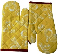 Tidy Red, Yellow Cotton Kitchen Linen Set Pack Of 2