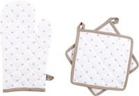 Iris Innovations Grey Cotton Kitchen Linen Set Pack Of 3