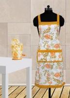 Dekor World Yellow Cotton Kitchen Linen Set Pack Of 2