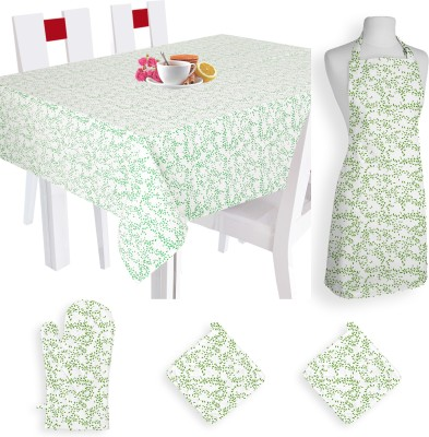 Smart Home Textile Self Design Cotton Kitchen Linen Set Multicolor, Pack Of 5 - KLSE8YSYXC6MNUZQ
