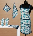 Dekor World World Of Flowers Kitchen Linen Set - KLSDVYHXZHGD9WSA