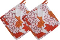 Smart Home Orange, White Cotton Kitchen Linen Set Pack Of 2