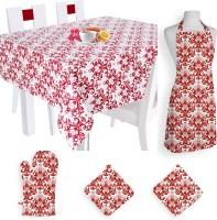 Smart Home Textile Self Design Cotton Kitchen Linen Set Multicolor, Pack Of 5 - KLSE8YSYAHRQZZG7