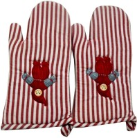 Tidy Red, White Cotton Kitchen Linen Set Pack Of 2