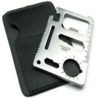 Protos 11 In 1 Pocket Visiting Card Survival Kit Multi Tool (Silver)