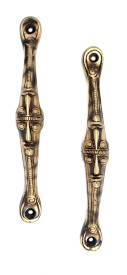 Handecor Tribal Face Brass Cabinet/Draw Pull