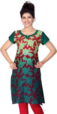 Lifestyle Lifestyle Retail Printed Women's A-Line Kurta (Green)