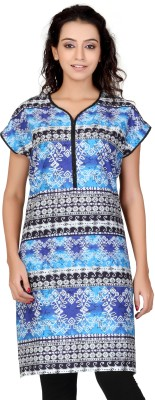 Lifestyle Lifestyle Retail Printed Women's Straight Kurta (Blue)