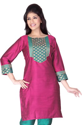 Lifestyle Lifestyle Retail Self Design Women's Straight Kurta (Multicolor)