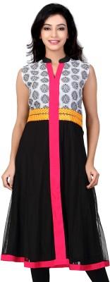 Lifestyle Lifestyle Retail Self Design Women's Anarkali Kurta (Black)