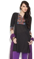 Victor Brown Solid Women's Straight Kurta