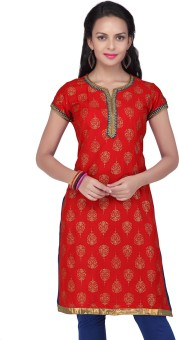 Stop To Start By Shoppers Stop Self Design Women's Straight Kurta