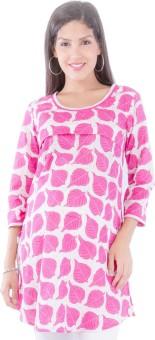 Morph Maternity Printed Women's Straight Kurta Pink