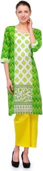 Shakumbhari Printed, Floral Print Women's Straight Kurta