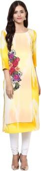 Shakumbhari Printed Women's Straight Kurta Yellow