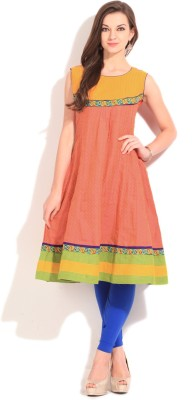 Span Self Design Women's Kurta