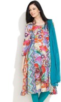 Rain and Rainbow Casual 3/4 Sleeve Printed Women's Kurti