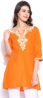 Biba Embroidered Women's Straight Kurta