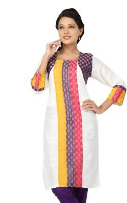 Lifestyle Lifestyle Retail Printed Women's A-Line Kurta (Beige\/Sand\/Tan)