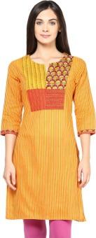 Rangmanch By Pantaloons Striped Women's Straight Kurta