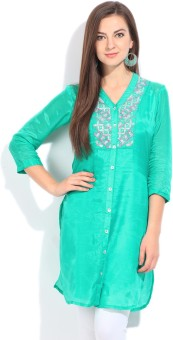 Global Desi Solid Women's Straight Kurta