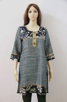 The Bedifferent Store Printed Women's Pathani Kurta