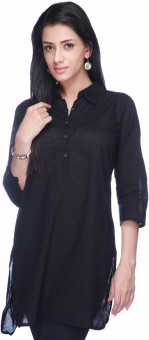 Stop To Start By Shoppers Stop Solid Women's Straight Kurta