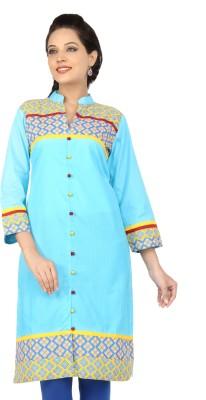 Lifestyle Lifestyle Retail Solid Women's A-Line Kurta (Blue)