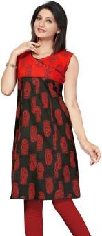ALC Creations Casual, Formal Printed, Paisley Women's Kurti Red, Black
