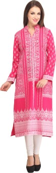Dee's By Dashmesh Printed Women's Straight Kurta Red