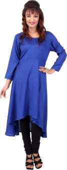 In-trend Solid Women's A-line Kurta - KTAE7S8FSUWHAWX8