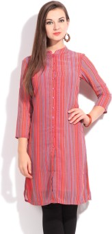 Global Desi Geometric Print Women's Kurta