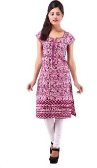 Jhalani Floral Print Women's Straight Kurta