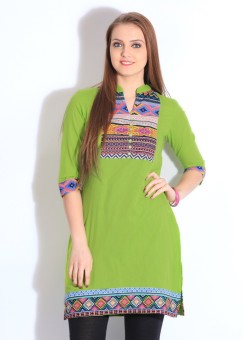 Rain & Rainbow Striped Women's Kurta: Kurta