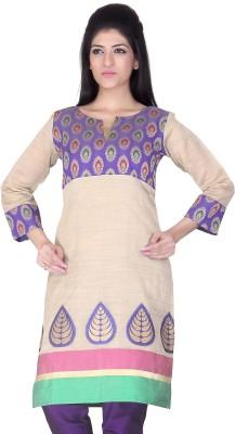 Lifestyle Lifestyle Retail Floral Print Women's A-Line Kurta (Beige\/Sand\/Tan)