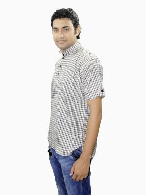 Shahana Checkered Men's Straight Kurta