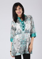 Keona Casual Roll-up Sleeve Printed Women's Kurti