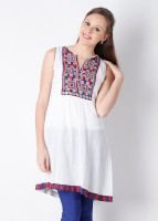 Aneri Casual Sleeveless Printed Women's Kurti