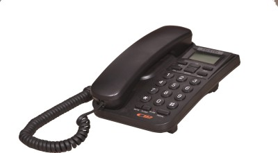 Talktel F-4 Bl Corded Landline Phone (Black)