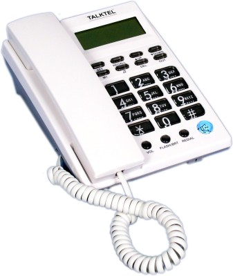 Talktel F-6 WH Corded Landline Phone (White)