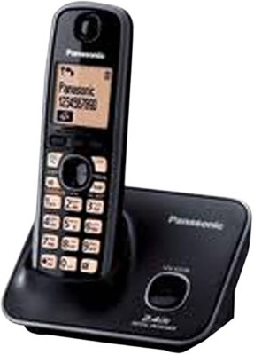 panasonic TG 3711 Cordless Landline Phone (Black)