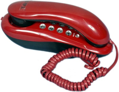 Talktel F-1 Rd Corded Landline Phone (Red)