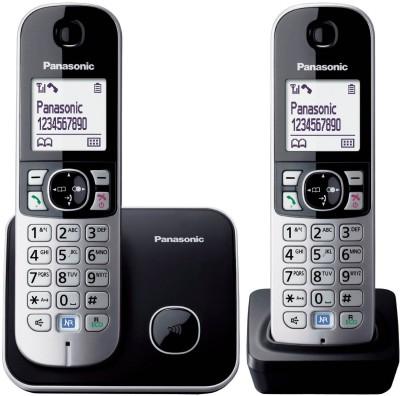 Panasonic KX TG 6812 Cordless Landline Phone (Black, Silver)
