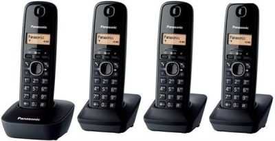 Panasonic KX-TG 1614 Cordless Landline Phone (Black)