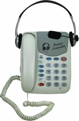 Sonics HT-882- HS Corded Landline Phone (WHITE)