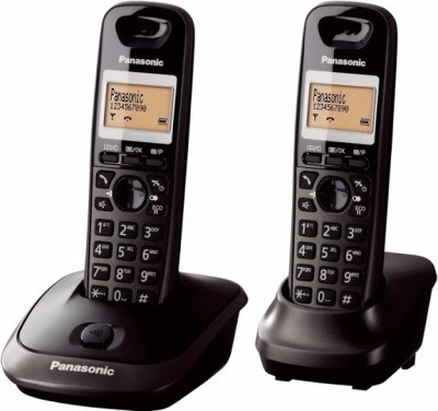 Panasonic PA-KX-TG2512 Cordless Landline Phone (Black)