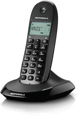 Motorola C1001LI Cordless Landline Phone (BLACK)