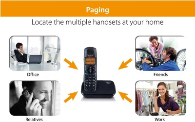 Gigaset A530 Cordless Landline Phone (Black)