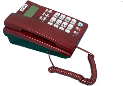 Talktel F-6 Rd Corded Landline Phone (Red)